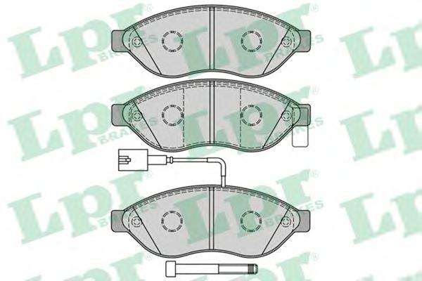 Комплект тормозных колодок 05P1287