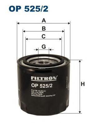 Фильтр масляный FILTRON OP 525/2