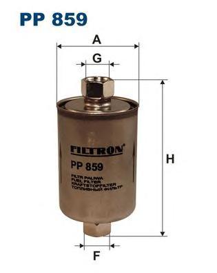 Фильтр топливный PP859