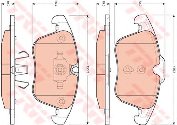 Колодки передние JAUGUAR S-TYPE (CCX), XF (CC9), XJ (X350) GDB1705