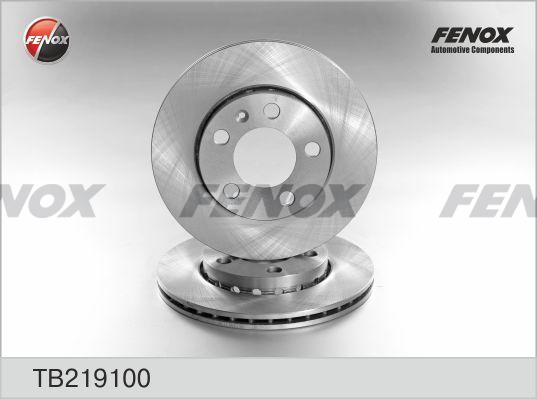 Диск тормозной FENOX TB219100 VW POLO, SKODA FABIA