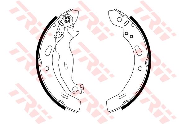 Колодки тормозные TRW GS8814 Ford Fiesta 09- 200*30