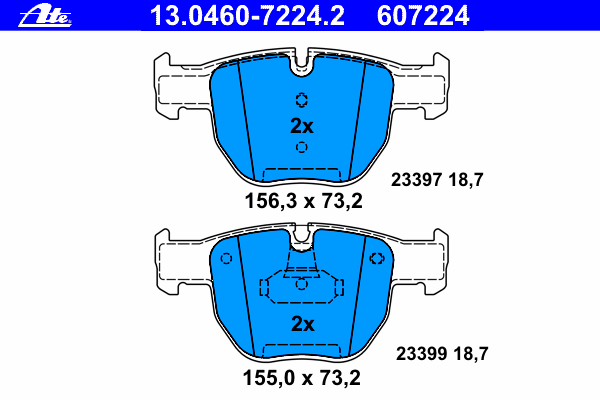 Колодки тормозные дисковые передн, LAND ROVER: RANGE ROVER III 3.0 TD 6 4x4/3.6 TD 8 4x4/4.2 4x4/4.4 4x4 02-12