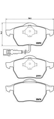 Колодки тормозные AUDI A3/TT/SKODA OCTAVIA/VW BORA/GOLF/POLO 97- передние