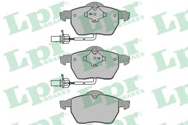 """Колодки тормозные LPR 05P1119 VW PASSAT, AUDI A4/A6 16"""" =GDB1488"""