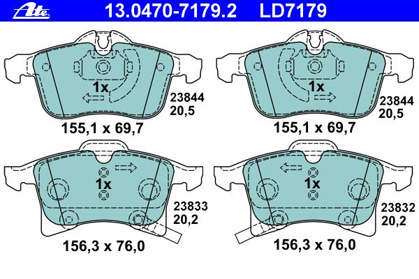 Колодки торм. пер. Opel Astra H, Corsa C/D 04> (ceramic)