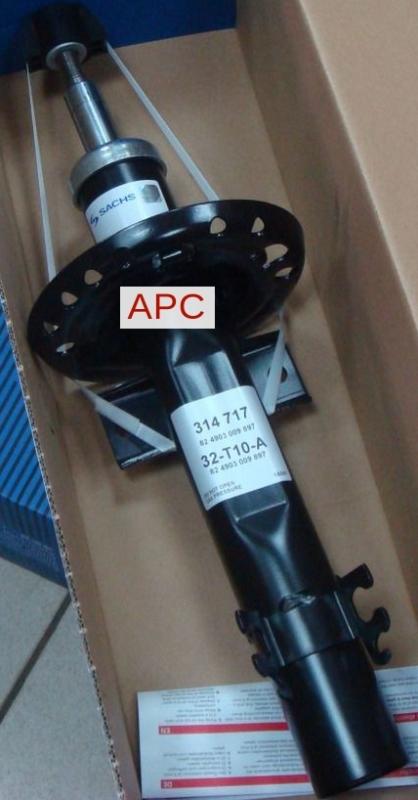 Амортизатор газовый передний Audi A1, VW Polo (09-) 314717