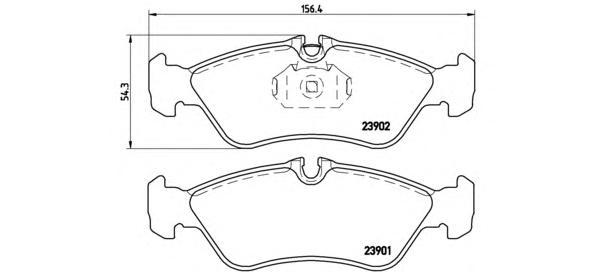 К-т торм. колодок Re (902) MB Sprinter -06, WV LT
