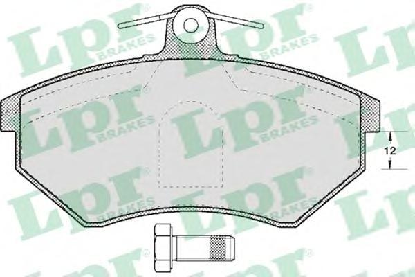 Комплект тормозных колодок 05P600