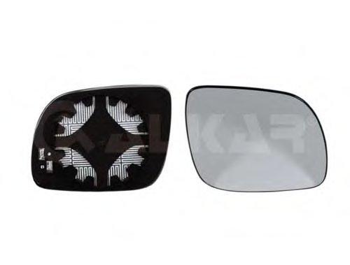 Стекло зеркала прав с подогр, выпукл, мал SKODA: OCTAVIA (1996-04), FABIA (1998-06)