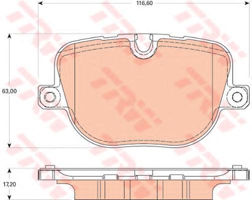Колодки задние RANGE ROVER III, SPORT GDB1824