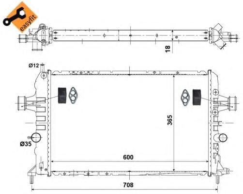 Радиатор OP Astra H 1,6/1,8