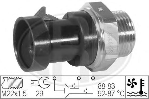 Датчик включения вентилятора CITROEN: JUMPER c бортовой платформой/ходовая часть (230) 1.9 TD/2.5 D/2.5 D 4X4/2.5 TD/2.5 TDi/2.5 TDi 4X4/2.8 HDi 94-02, JUMPER c бортовой плат
