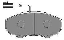 К-т торм.колодок Fr PSA Jump/Box, FI Duc 02-06