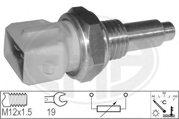 Датчик температуры охлаждающей жидкости FIAT: BRAVA (182) 1.6 16V (182.BB)/1.6 16V (182.BH) 95-02, BRAVO I (182) 1.6 16V (182.AB)/1.6 16V (182.AH) 95-01, MAREA (185) 1.6 100 16V/1.6 100