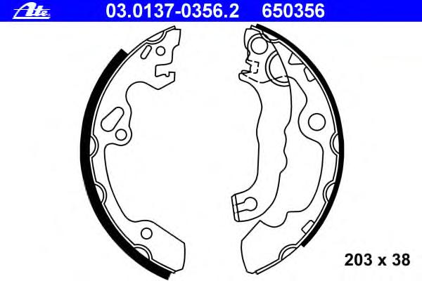 Колодки тормозные барабанные FORD - FOCUS (DAW, DBW) - 1.8 16V 10.98-11.04