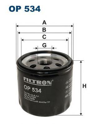 Фильтр масляный OP534