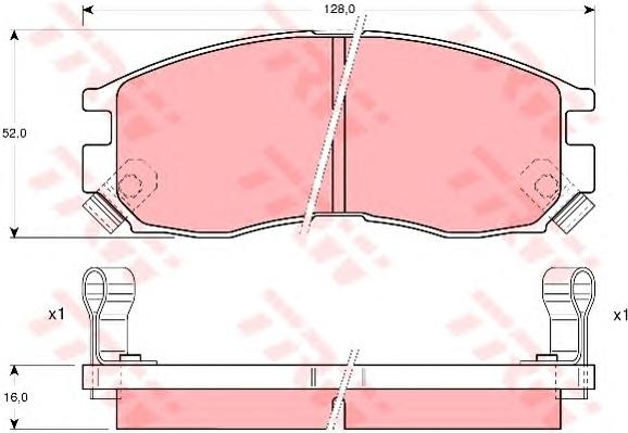 Колодки передние MITSUBISHI GALANT IV-V GDB1128