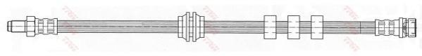 Шланг тормозной FORD: FOCUS 1.4 98-, 1.6/1.8/1.8D/2.0 00-