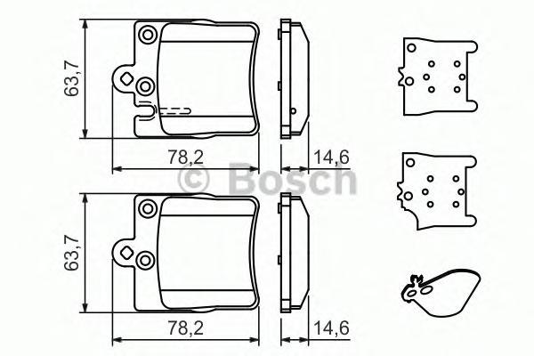 Колодки тормозные MERCEDES W203 00>/A208/A209 CLK задние