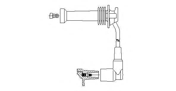 Провод высоковольтный Ford/Mazda2/Volvo s40 95-