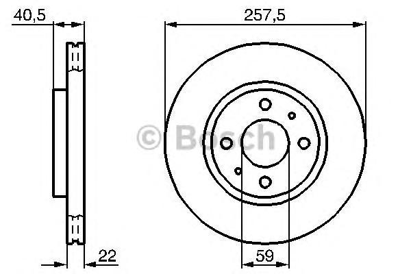 Диск тормозной FIAT DOBLO 05-/IDEA 04-/PANDA 99-/STILO 02- передний