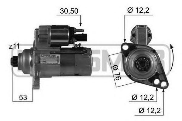 Стартер ERA 220449 AUDI/VW 1.9TDi 2.0 Kw 11z