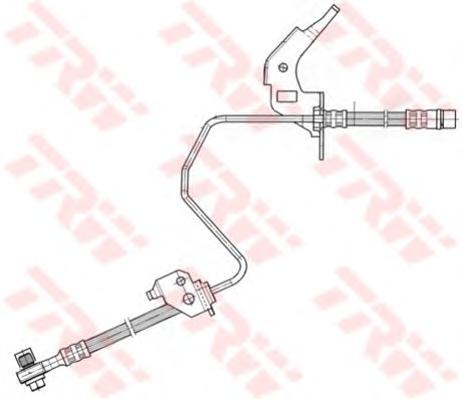Шланг тормозной TRW PHD567 OPEL ASTRA H задн L (для задн диск)