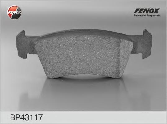 Колодки тормозные FENOX bp43117 VW T5 задн 1датч 310мм