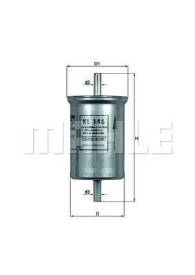 Фильтр топливный RENAULT Megan 1.4-1.6 10/96->/HYUNDAI Santa Fe 2.0-2.7i 9/99->
