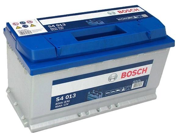 Аккумулятор BOSCH S4 SILVER 12V 95AH 800A ETN 0(R+) B13 353x175x190mm 21.32kg