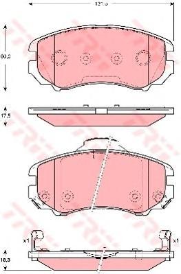 Колодки передние HYUNDI ELANTRA 06-, KIA SPORTAGE (JE) GDB3386