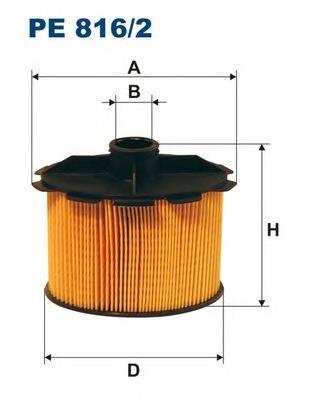 Фильтр топливный FILTRON PE8162 Citroen Berlingo/C15 1,9D 98-> & Pegeout 206/306 1,9D 98->