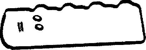 Прокладка клапанной крышки HYUNDAI: GALLOPER II 2.5 TCi D 98-03, H-1/ STAREX 2.5 TD 97-, H-1 фургон 2.5 TD 97-07, H100 автобус 2.5 D/2.5 TD 93-04, H100 фургон 2.5 D 93-04 \ MIT