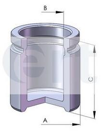 Поршень тормозного суппорта D57 AUDI/OPEL/SAAB F