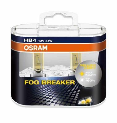 Лампа г/с HB4 (51W) P22d Fog Breaker 12V 2шт 9006FBR-HCB 4052899932265