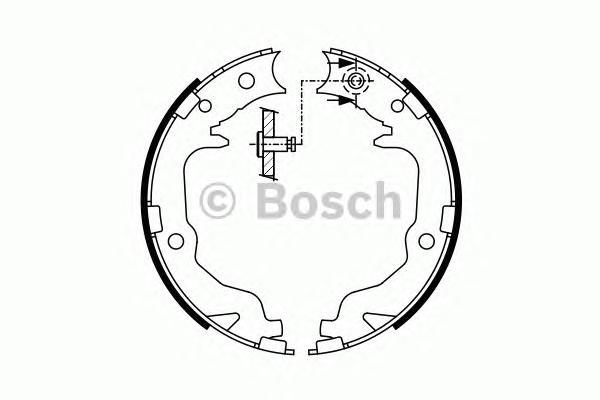 Комплект тормозных колодок, стояночная тормозная система 0986487766