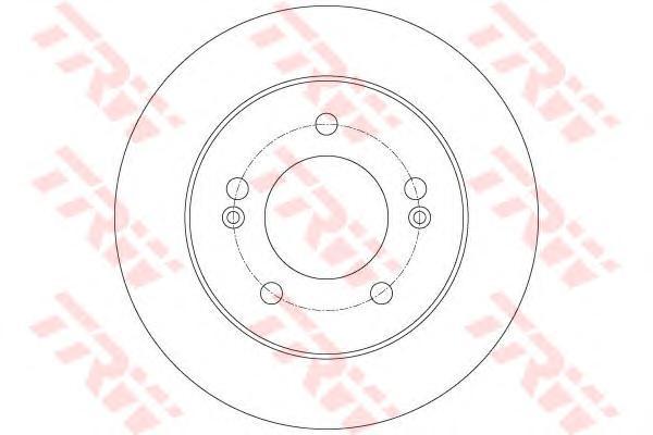 Диск тормозной задний KIA VENGA, HYUNDAI ix20 DF6144
