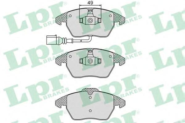 Комплект тормозных колодок 05P866