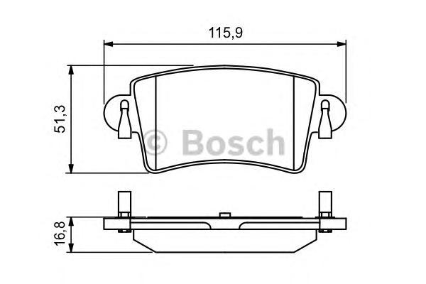 Колодки тормозные NISSAN INTERSTAR/OPEL MOVANO/RENAULT MASTER 98- задние
