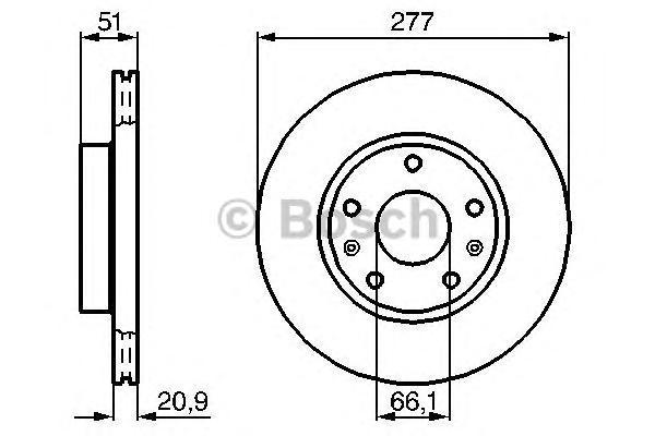 Диск тормозной LAND ROVER FREELANDER 1.8-2.5 98-06 передний