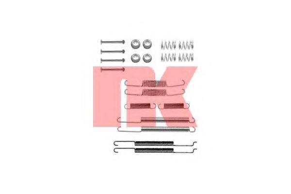 Монтажный комплект задних барабанных колодок / VW Passat 93 - 96 •SKODA Octavia 97 - 04