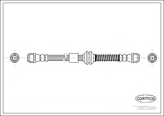Тормозной шланг передний [537mm]