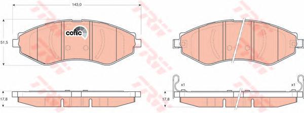 Колодки передние CHEVROLET LACETTI (J200) GDB3347