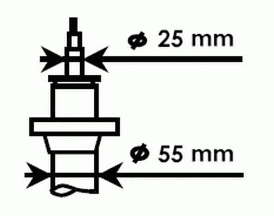Амортизатор газовый передний Ultra SR 325700