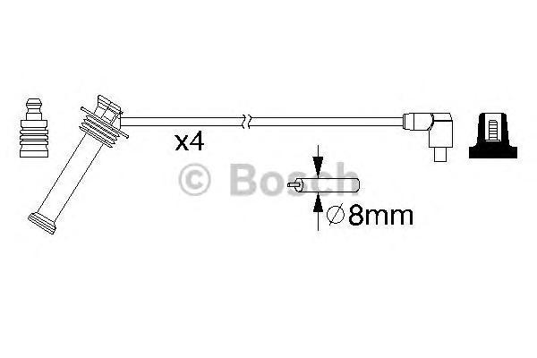 Комплект проводов зажигания FORD FOCUS,FIESTA,MONDEO,PUMA 1.4,1.6L 16V