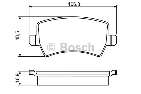Колодки тормозные FORD GALAXY/S-MAX/VOLVO S80/V70/XC60/XC70 07- задние