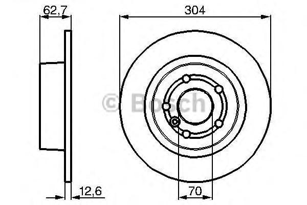 Диск тормозной LAND ROVER DISCOVERY 98-04/RANGE ROVER 88- задний D=304мм.