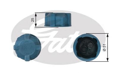 Крышка системы охлаждения дв. FI Linea 09-, Doblo