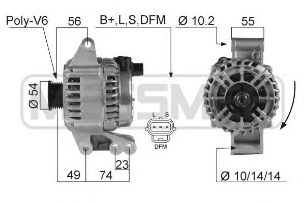 Генератор ERA 210359 Focus `02-`04 ZH-R